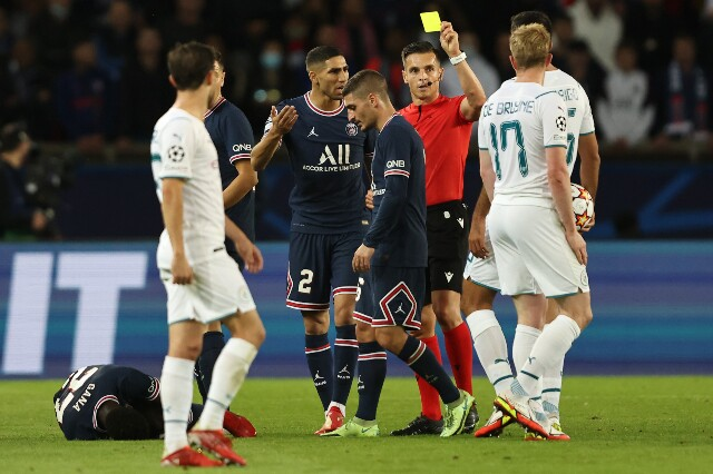 Kevin De Bruyne, amonestado en PSG vs. Manchester City