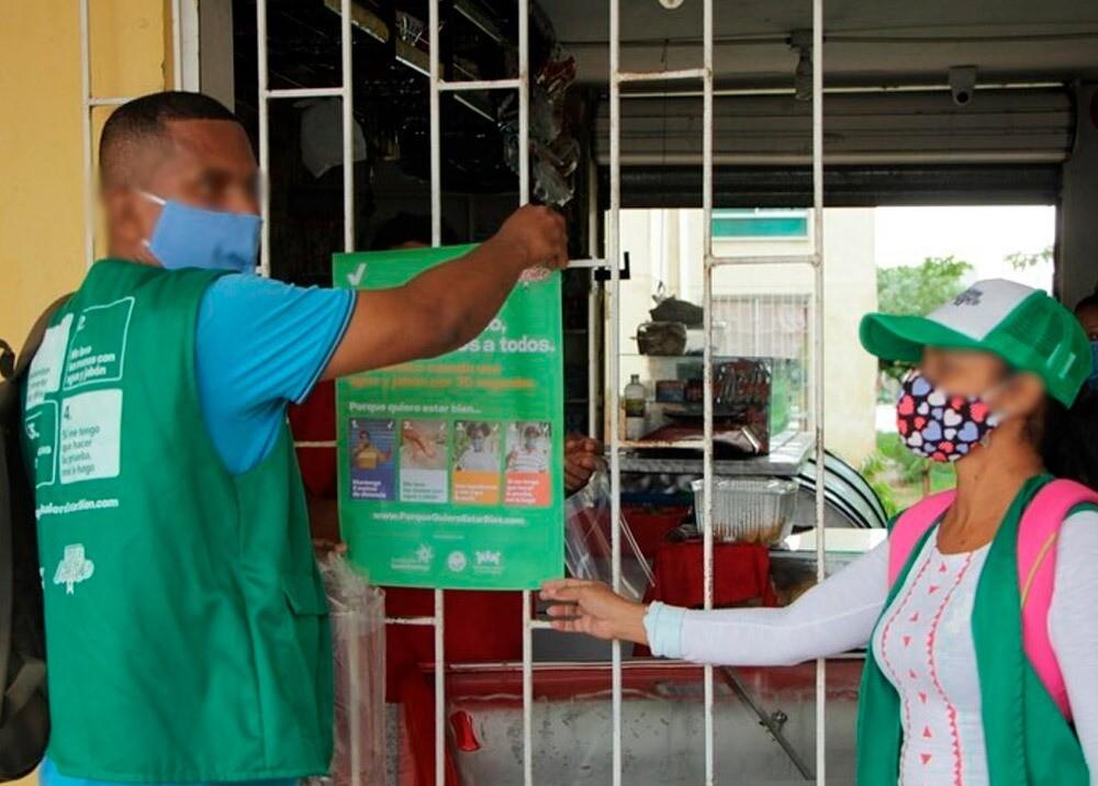 372331_Medidas de prevención en la pandemia // Foto: Facebook Alcaldía de Cartagena