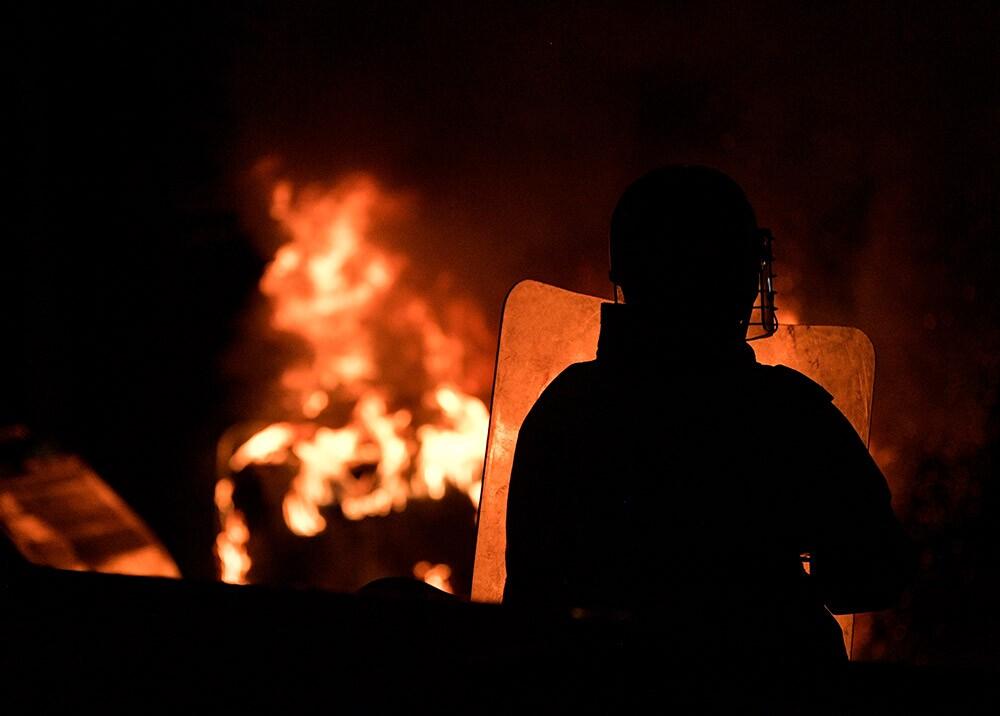 Protestas en Bogotá // Foto: AFP