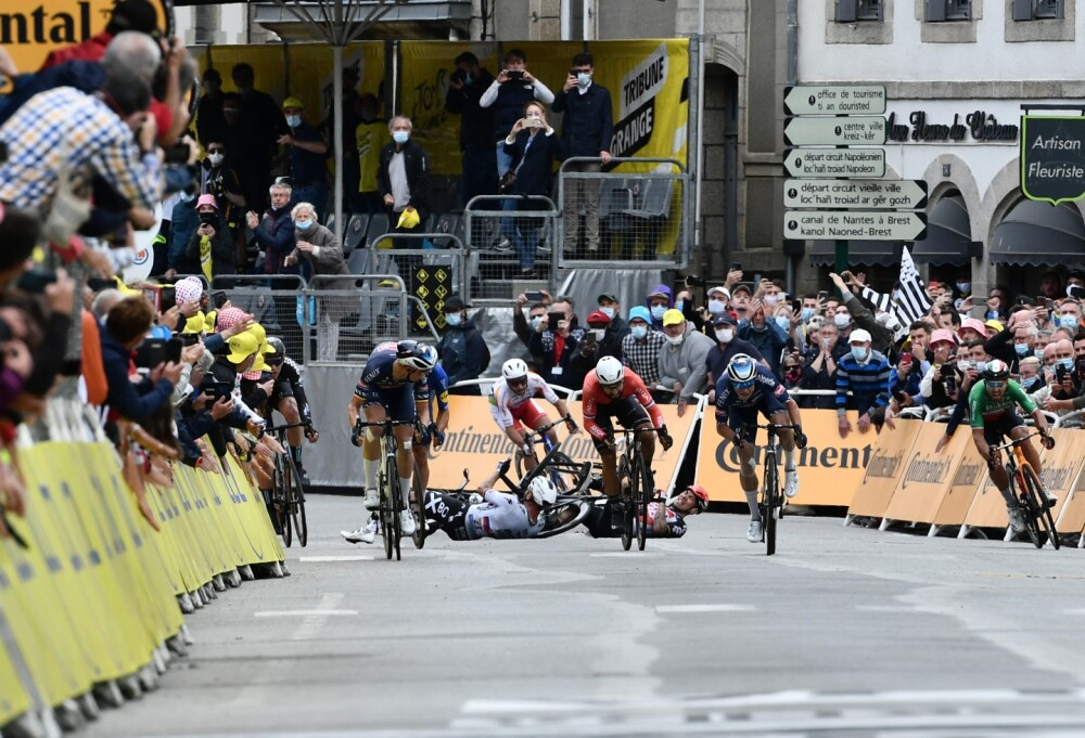 Caídas en el Tour de Francia 2021.