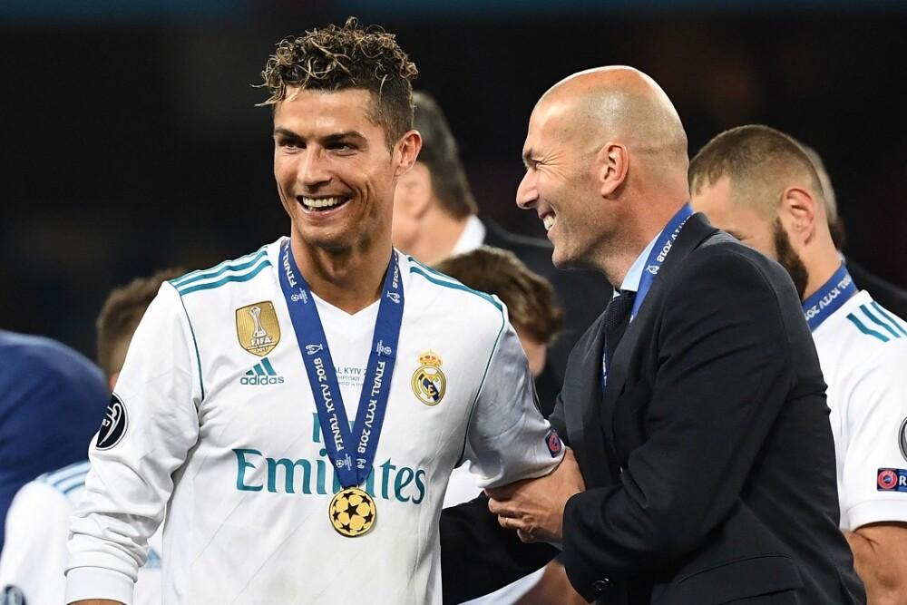 Cristiano Ronaldo y Zinedine Zidane. Foto: AFP