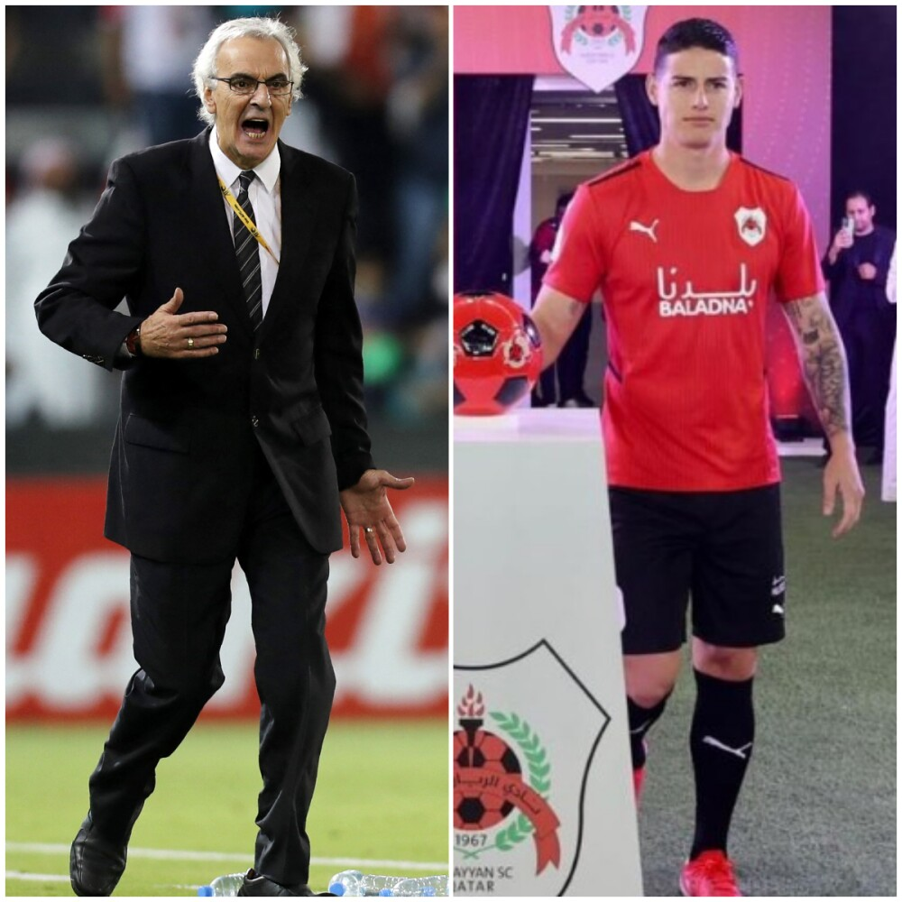 Jorge Fossati y James Rodríguez