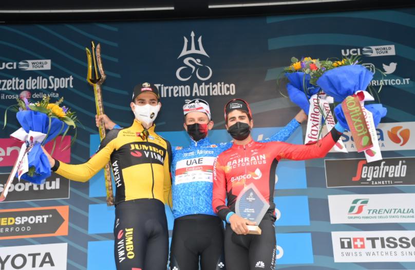 Tadej Pogacar se coronó campeón de la Tirreno-Adriático 2021.