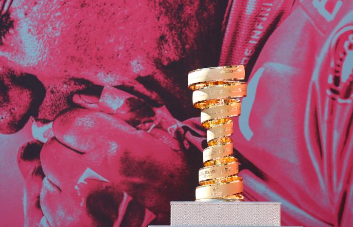 El trofeo que se llevará el campeón del Giro de Italia 2021.