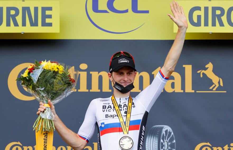Matej Mohoric fue el ganador de la etapa 19 del Tour de Francia.