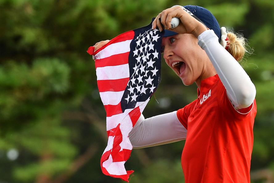 Nelly Korda ganó el oro en el golf de los Juegos Olímpicos Tokio 2020.
