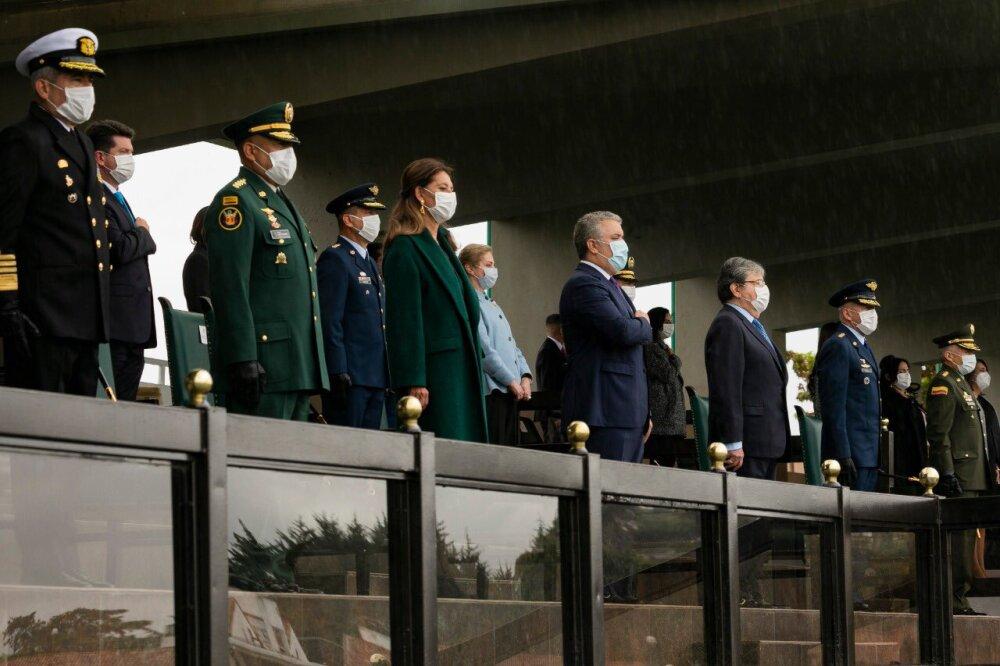 373575_BLU Radio. Iván Duque y miembros del Gobierno y Fuerzas Armadas. Foto Presidencia