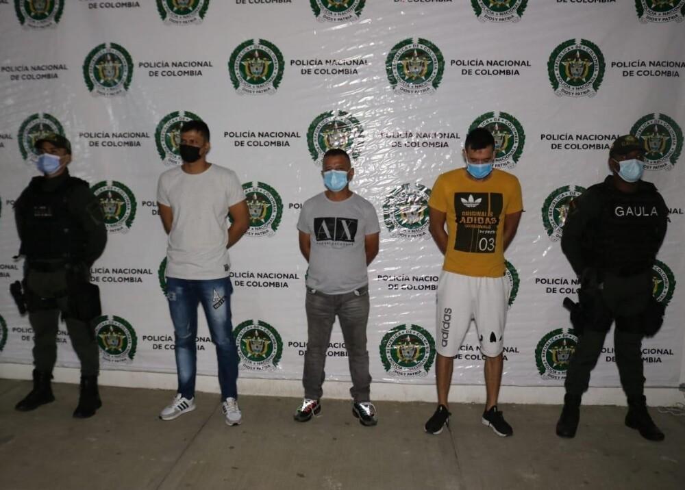 Capturan a tres hombres responsables de actos vandálicos en Cali Foto Policía Nacional.jpg
