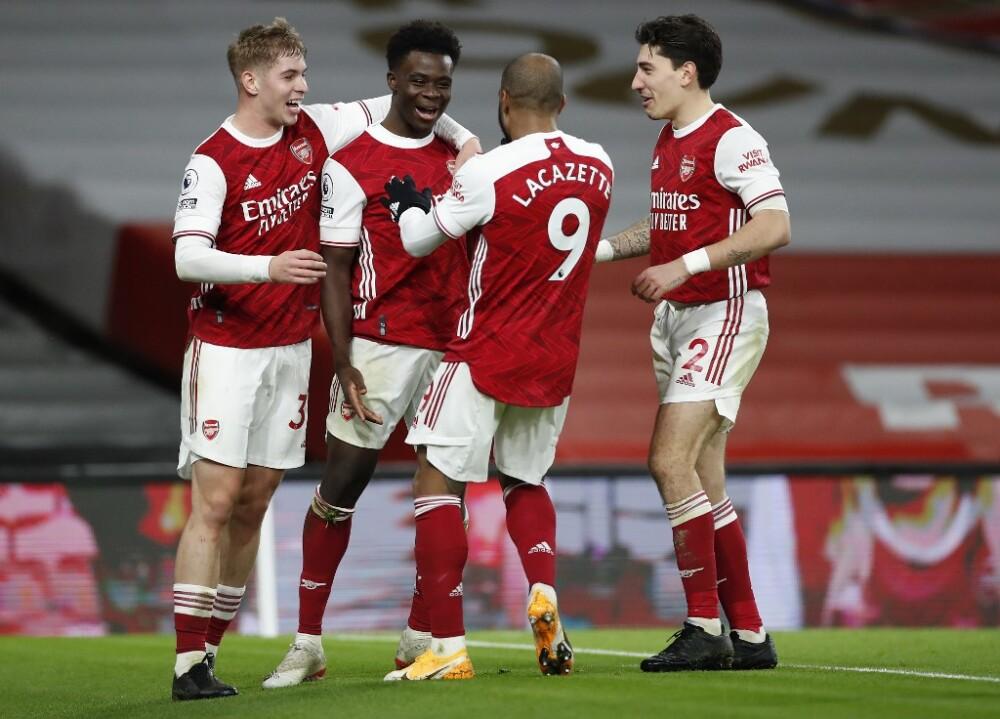 Arsenal celebra vs Chelsea