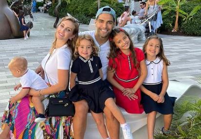 Hijas de Radamel Falcao García terminaron hospitalizadas