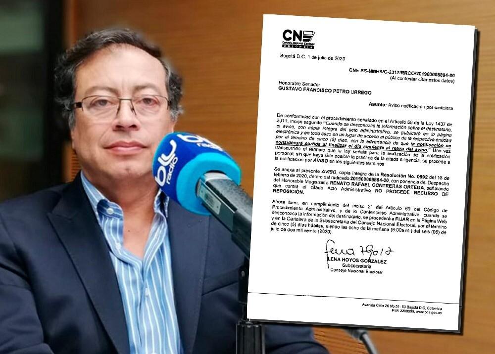 372077_Investigación del CNE a Petro // Imagen: composición BLU Radio