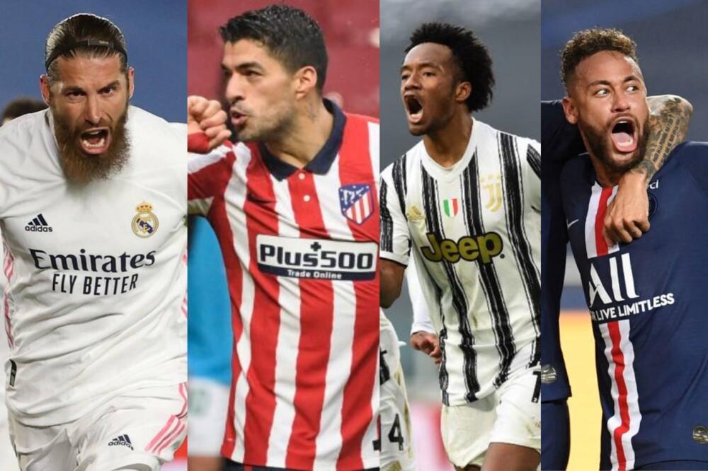Ramos-Suárez-Cuadrado-Neymar