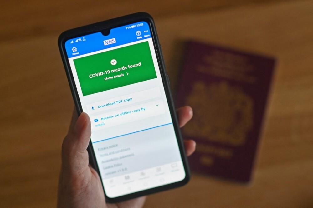 Pasaporte COVID- Foto referencia AFP