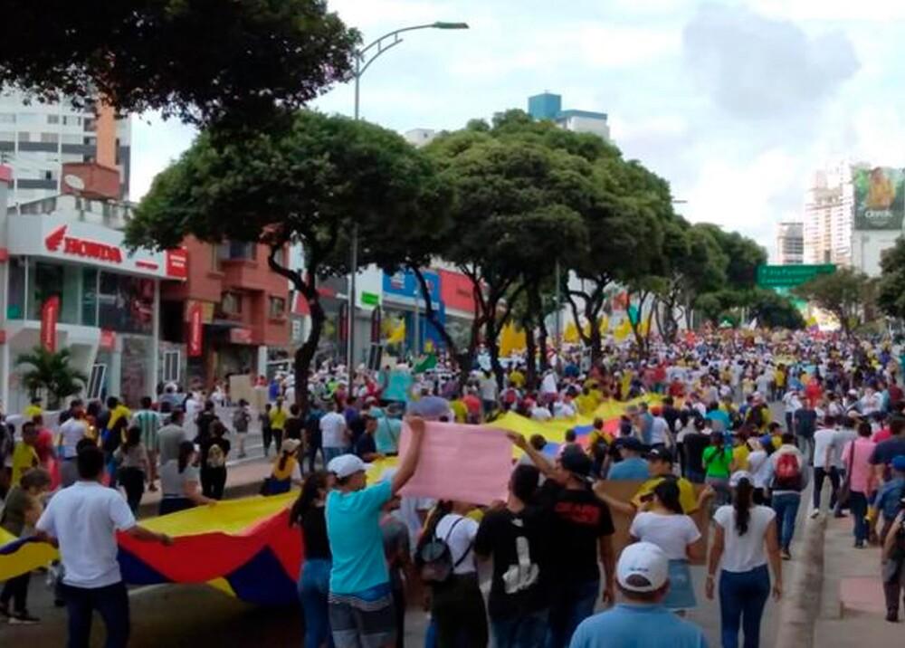 349373_Movilizaciones en Bucaramanga // Foto: BLU Radio