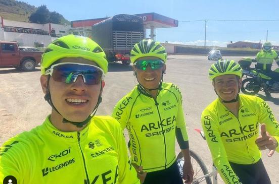 Miguel Flórez (I) se recuperó de la lesión que sufrió en el Tour de los Alpes Marítimos.