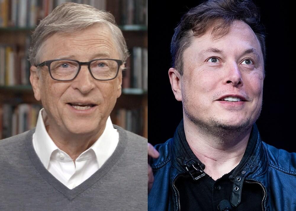 Bill Gates - Elon Musk / Fotos AFP