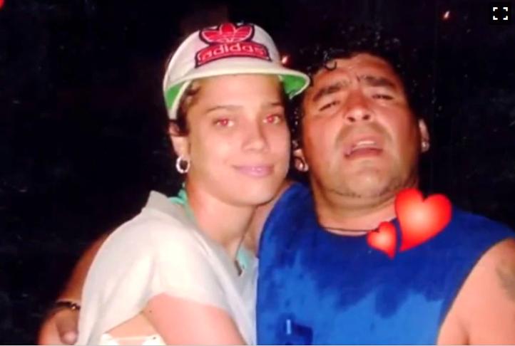 Diego Maradona y Mavys Álvarez, expareja..PNG
