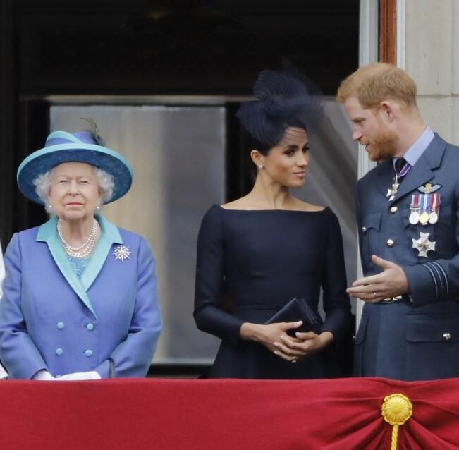 reina Isabel II, Enrique y Meghan