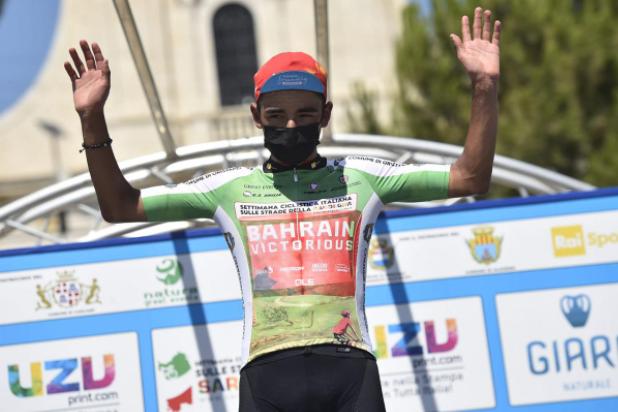 Santiago Buitrago es líder de la montaña de la Semana Ciclística Italiana