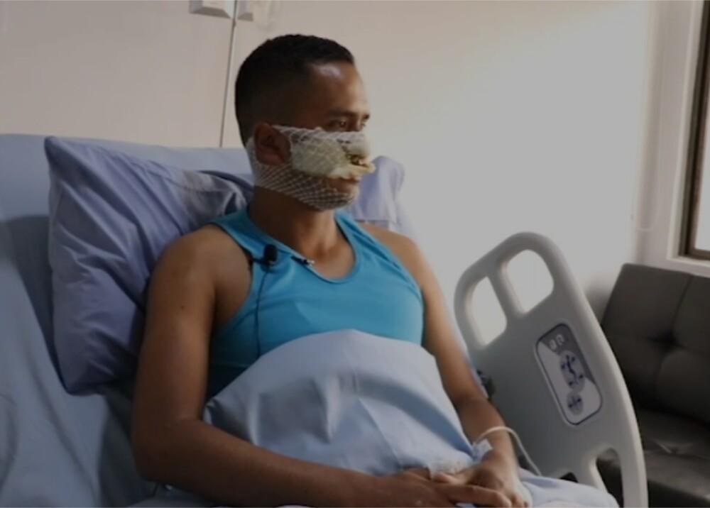 Leonardo Fiorillo Cárdenas patrullero atacado con bomba molotov Foto captura de video.jpg