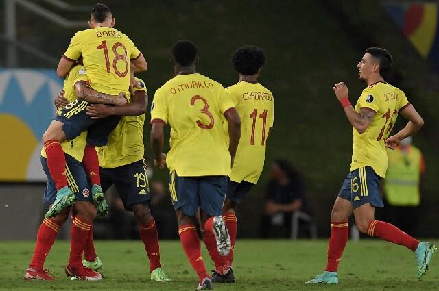 Celebración de la Selección Colombia