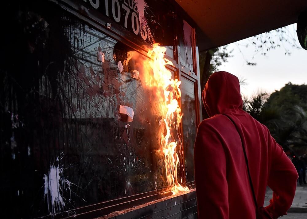 Protestas en Bogotá :: Foto: AFP.jpeg