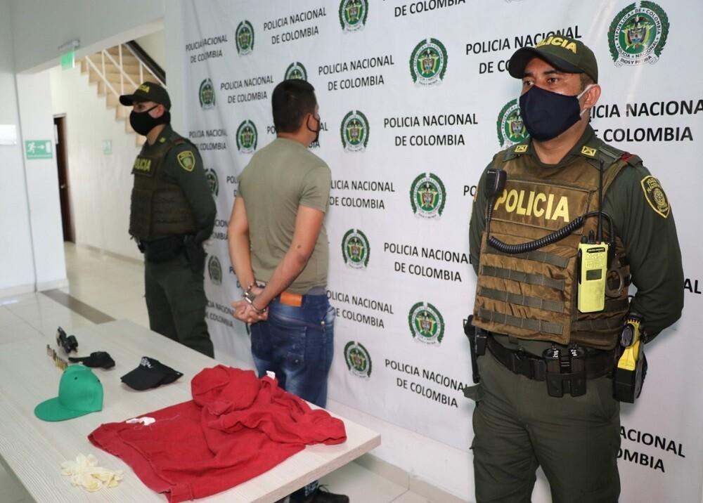 370954_BLU Radio. Capturan a vinculado con muerte de menor / Foto: Policía de Bucaramanga
