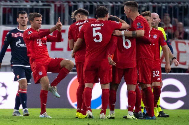 321194_Celebración de un gol del Bayern Múnich.
