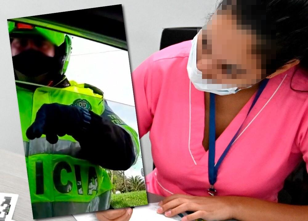 368607_Enfermera denuncia presunto abuso policial por portar uniforme // Fotos: captura video suministrado - AFP, imagen de referencia