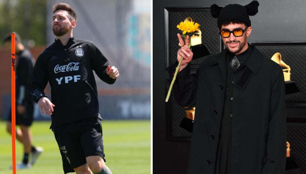 Lionel Messi y Bad Bunnny