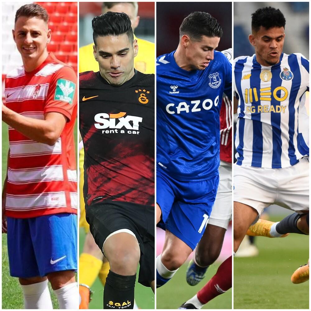 Santiago Arias, Falcao, James y Luis Díaz