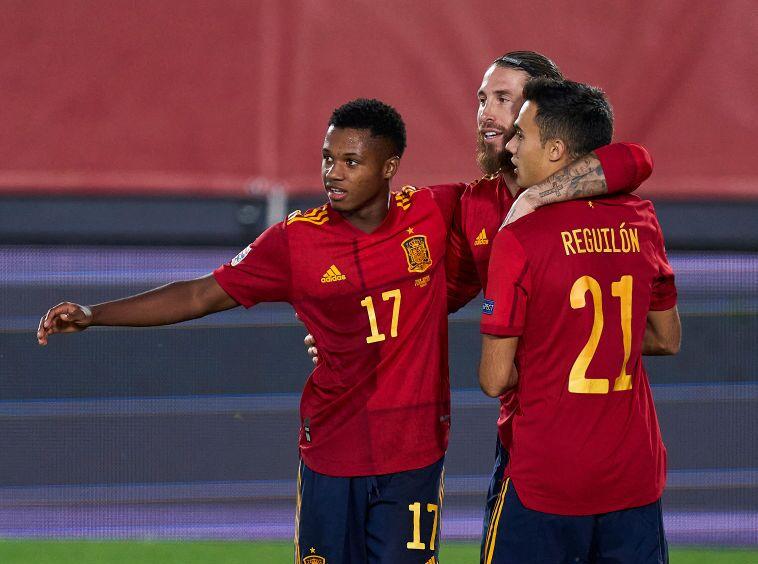 Ansu Fati, jugador de la Selección de España