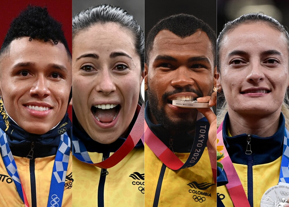 Medallistas olimpicos colombianos_AFP.jpg