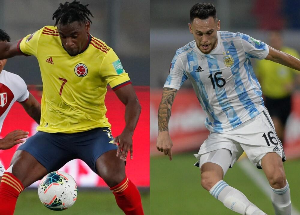 Selección de Colombia y Argentina Foto AFP.jpg