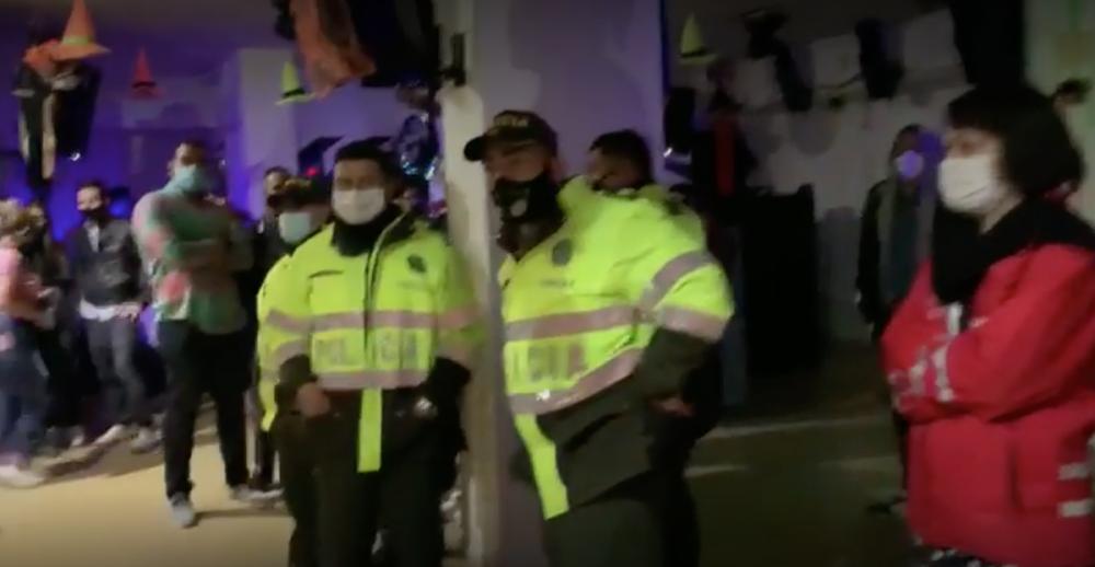 Fiesta ilegal en Chapinero / Foto captura de video suministrado