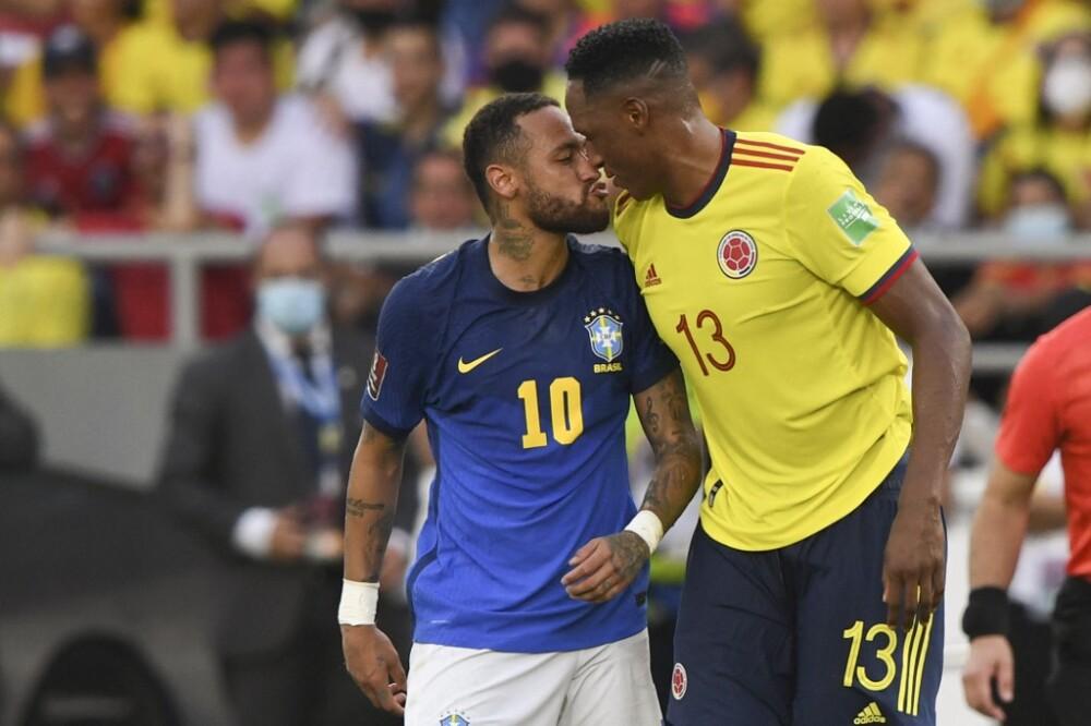Neymar-Mina, Colombia-Brasil