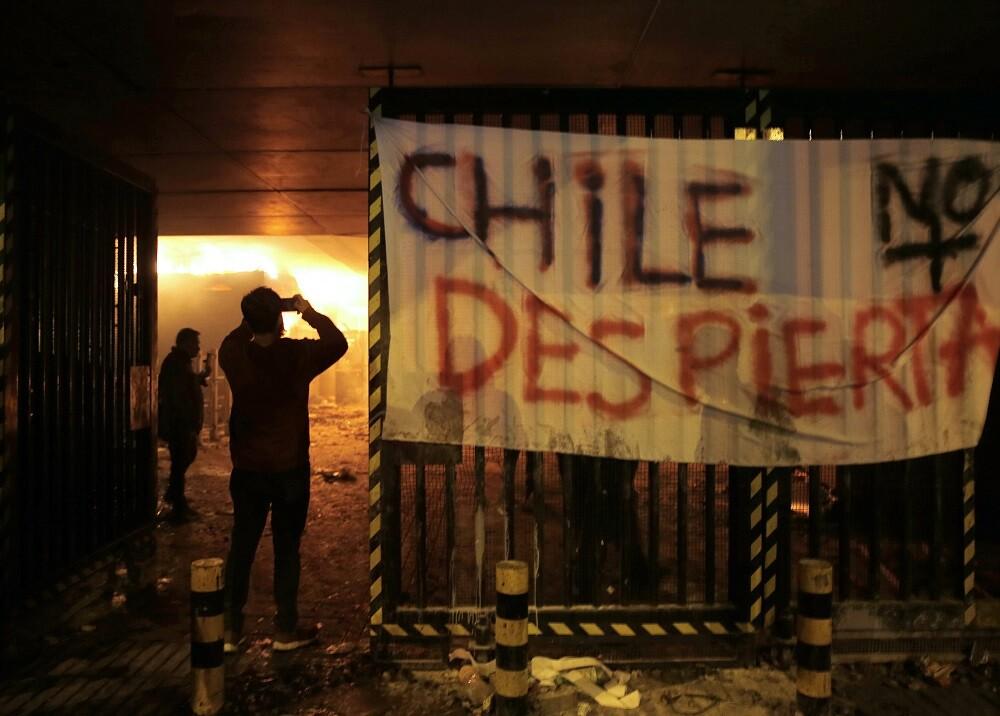 346286_Protestas en Santiago de Chile // Foto: AFP