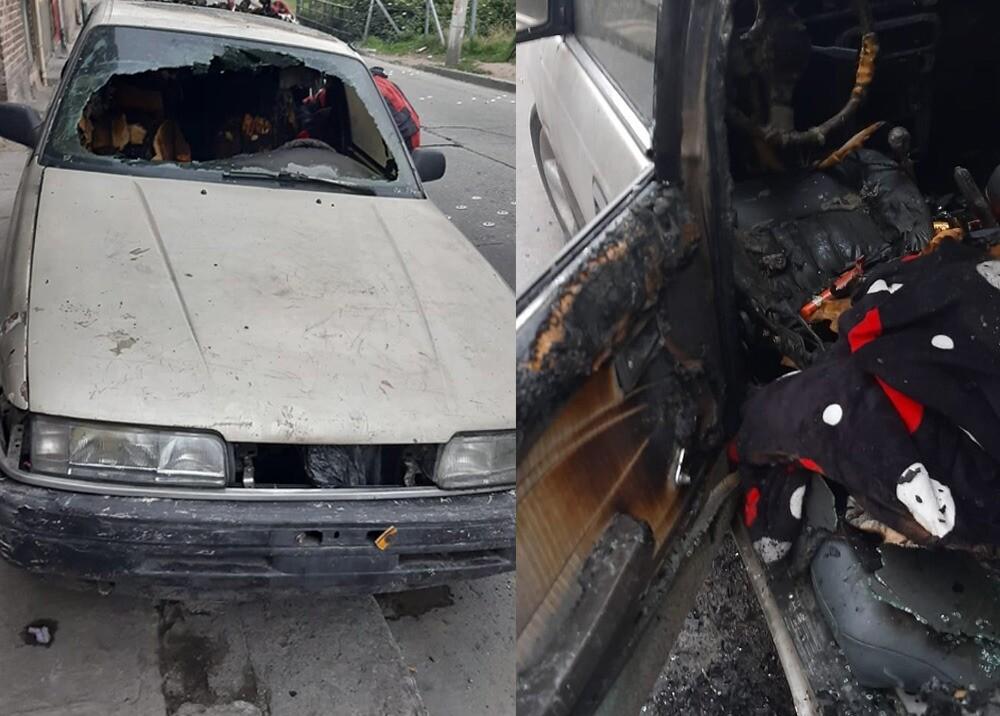 trabajador despedido por llegar borracho quemó a perrita en un carro en Bogotá