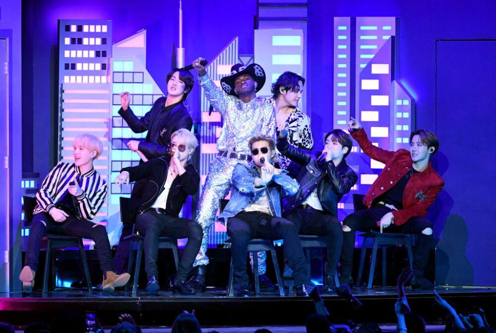 BTS y Lil Nas X en la 62 entrega anual GRAMMY Awards - Show