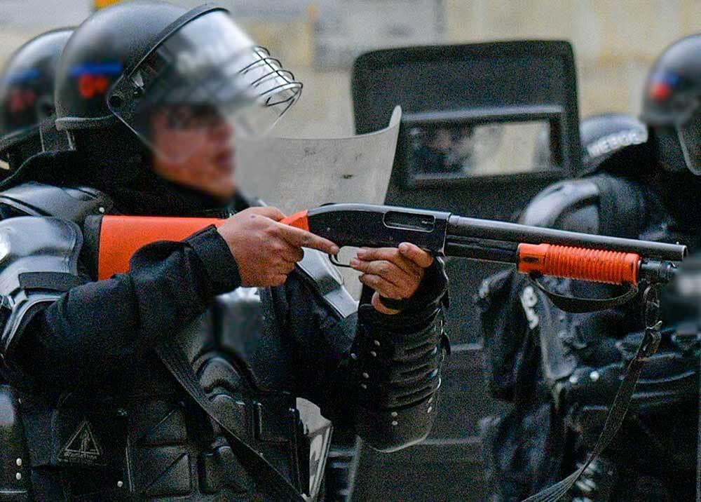 352884_Esmad escopeta / Foto: AFP
