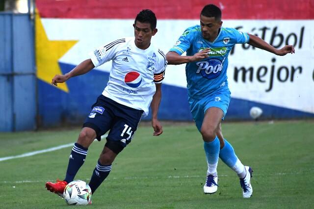 Jaguares contra Millonarios, en la Liga colombiana