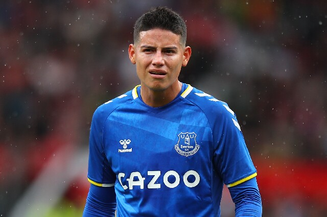 James Rodríguez, jugador del Everton