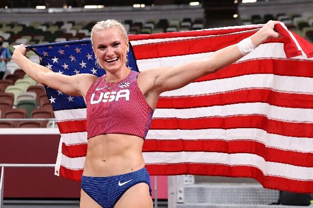 Katie Nageotte, en los Juegos Olímpicos de Tokio 2020