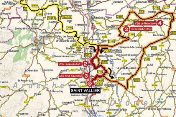Así será la etapa 5 del Critérium del Dauphiné.