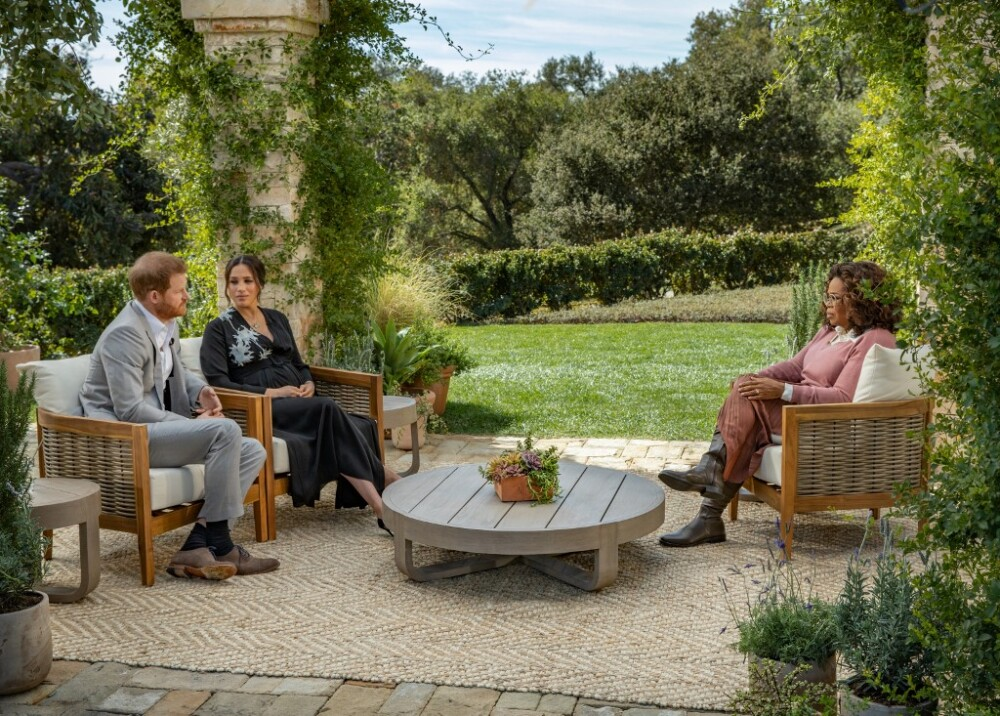 Meghan y Harry en entrevista con Oprah Winfrey