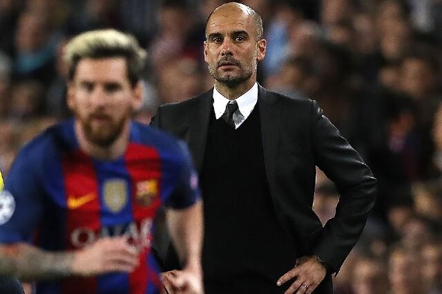 Pep Guardiola junto a Lionel Messi
