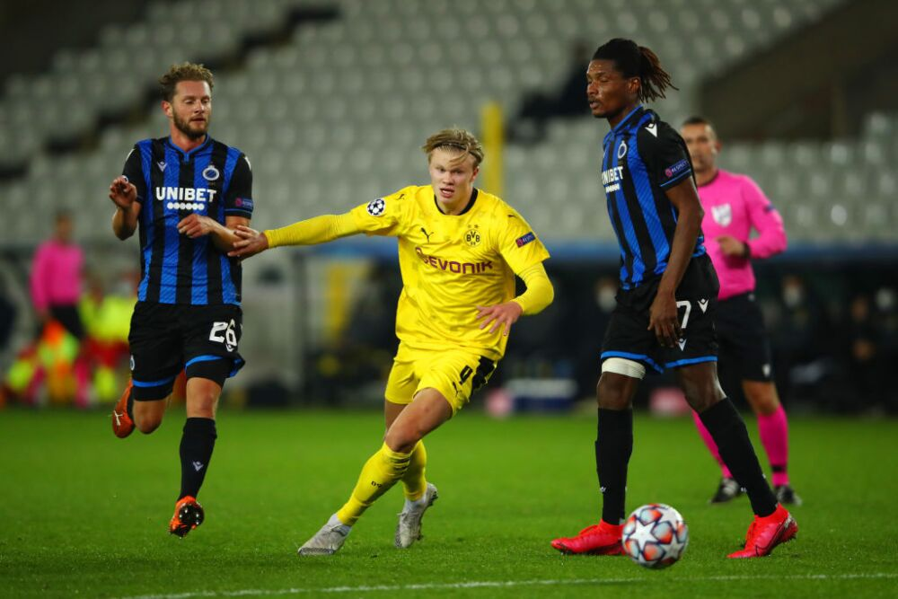 Erling Haaland, Borussia vs Brujas