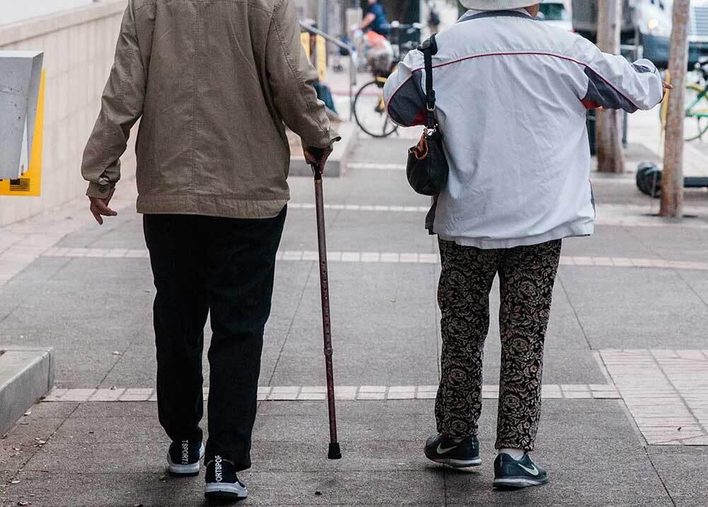 350922_Pareja de adultos mayores // Foto: AFP, imagen de referencia