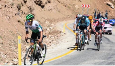 Jhojan García es cuarto en la general de la Vuelta a Turquía. Cortesía: @ImanolLlucia