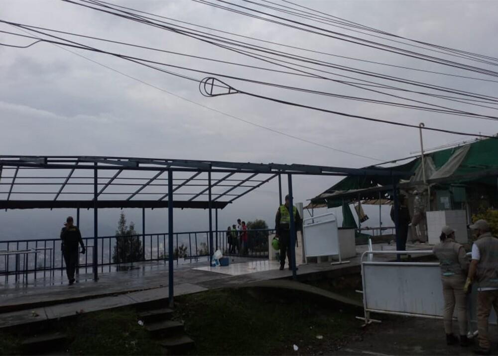 347255_BLU Radio. Demuelen 15 locales en el Mirador de las Palmas / Foto: Secretaría de Seguridad